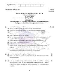Previous Year Exam Questions For Mechanical Vibration Mv Of 2017