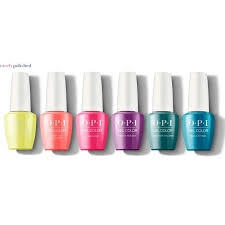 Opi Gelcolor Complete Neon Collection 6 X 15ml Bottles