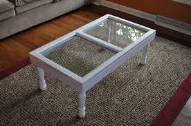 ... White Rectangle Vintage Wooden And Glass Terrarium Coffee Table Designs  To Complete Living Room ...