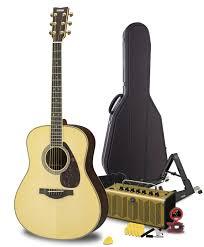 yamaha ll16. yamaha maverick deluxe acoustic guitar pack ll16