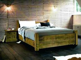Rustic King Size Bed Frame Oak Timber Four Poster Tree R – House ...