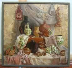 Творческий портал su Натюрморт с болгарской керамикой  Дипломная работа Размер 105х110 см холст масло