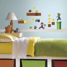 Mario Bedroom Roommates Nintendo Super Mario Build A Scene Peel And Stick Wall