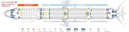 seat map and seating chart boeing 777 300er air canada 77w three cl v2