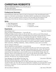 Oncology Rn Resume Best Oncology Nursing Resumes Resumehelp