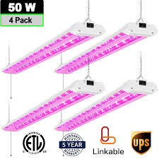 Antlux 4ft Led Grow Light Details About 4ft Led Grow Lights For Indoor Plants 50w Full Spectrum Integrated Growing Lamp