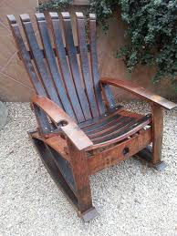 reclaimed handcrafted wine stave rocking chair by rewineddesigns 849 99