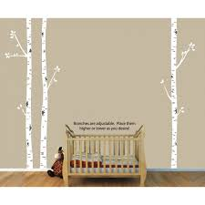 on white birch tree wall art with birch tree wall art and birch tree decals for nursery for girls
