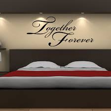 together forever headboard decor wall sticker art vinyl removable wall decal warm bedroom home decoration on wall art vinyl decal sticker headboard with together forever headboard decor wall sticker art vinyl removable