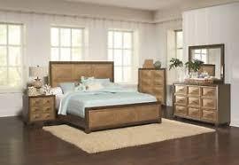 Image Is Loading Antique Gold Finish Modern 4pc Bedroom Furniture Est