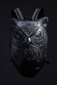 R-90 Owl Embossing <b>Backpack</b>. | Leather <b>backpack</b>, Faux leather ...