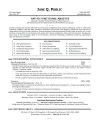 Sample Resume With Sap Experience Best of Sap Consultant Sample Resume Ophionco