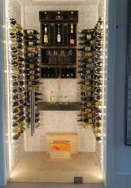 small wine collections do not require much storage space we have installed beautiful glass wine cellars under stairways and placed shallow wine cellars
