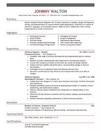 Software Developer Engineer Resume Sample Amazing Templates Tips