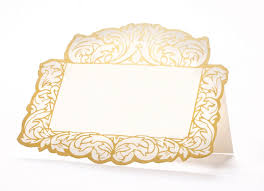 Designer Paper Placemats Die Cut Gilded Frame Place Card Products Frame Place
