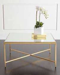 wonderful gold mirrored coffee table larissa mirror i n t e r l u d accent interlude home tray nightstand furniture aviator console