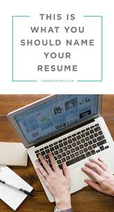 Name Your Resume Examples Monster Career Cv Section Headings I