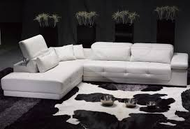 Living Room With Sectional Sofa Alluring White Leather Sectional Sofa Ideas For Living Room
