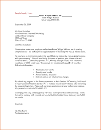 Purchase Inquiry Letter Inquiry letter examples example of in business new enquiry format 1