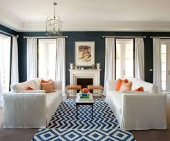 blue chevron rug