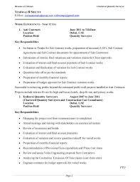 resume quantity surveyor      resume of vishwas chartered quantity surveyor