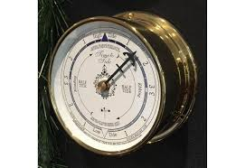 solid brass marine tide clock white dial