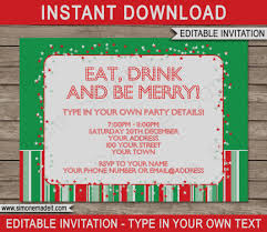 Party Tickets Templates Latest Of Holiday Party Invitation Template Christmas Marialonghi 15