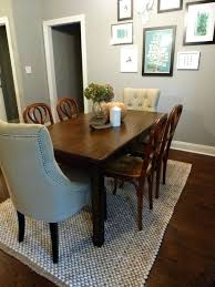 area rug under kitchen table cozy classroom rugs designs contemporary ideas for dining room tables at
