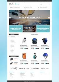 Buy Web Page Design Website Template 51170 Marine Store Shop Custom Website