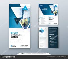 How To Design A Bifold Brochure Bifold Brochure Design Blue Template For Bi Fold Flyer