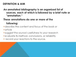 WHAT IS AN ANNOTATED BIBLIOGRAPHY  bibliography format
