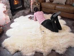 image of faux sheepskin rug large
