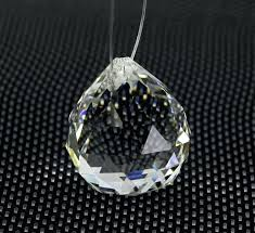 chandelier crystal ball clear faceted glass prism parts hanging pendant lighting wedding home decor