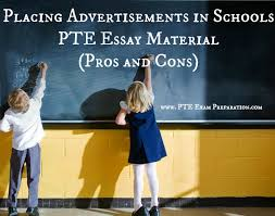 placing advertisements in schools pte essay material pros and cons