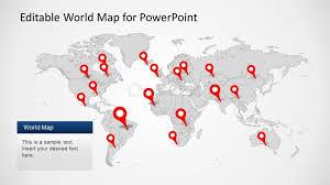 Editable Ppt World Map Slidemodel