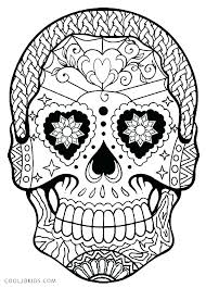 Sugar Skull Printable Coloring Pages Idrakinfo