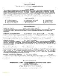 Pharmacy Technician Resumes And Field Service Technician Resume