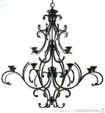 wrought iron candle chandelier led industrial vintage pillar rectangular metal free