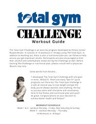 Total Gym Workout Chart Pdf Scouting Web