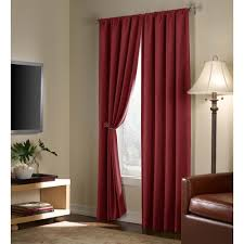 Maroon Curtains For Living Room Velvet Blackout Energy Efficient Curtain Panel Walmartcom