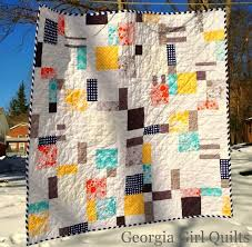 107 best 9 patch ideas images on Pinterest | Tutorials, Bag and ... & Modern D9P // Quilt by Georgia Girl Quilts Adamdwight.com