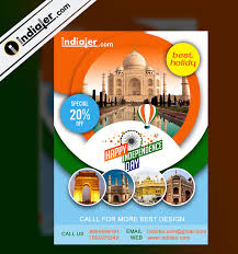 India Visit On Independence Day Travel Flyer Psd Indiater