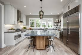 image contemporary kitchen island lighting. Contemporary Modern Kitchen Island Lighting Adds To Neutral Aesthetic Image B