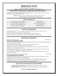Maintenance Mechanic Resume Samples Industrial Examples Facilities