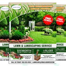 lawncare ad lawn care flyer design 6 the lawn market