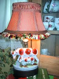 country lamp shade country lamp shade french country lamp sweet cow and her calf with tasseled