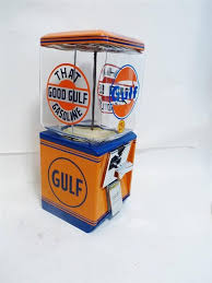 Gulf Vending Machines Classy Northwestern Vintage Gumball Machine Glass Globe GULF GASOLINE Candy