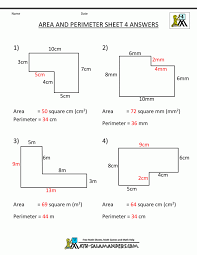 Math Worksheets Area And Perimeter Of Triangle 7th Grade Sheet 6 ...