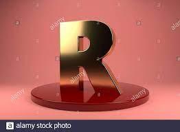 Golden Letter R uppercase wallpaper. 3d ...