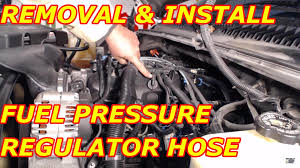 fuel pressure regulator vacuum hose replacement